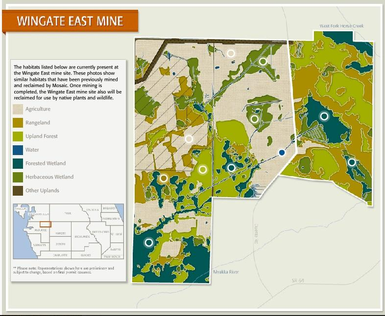 Map of the proposed Wingate East expansion