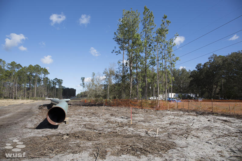 The pipeline outside Robin Koon's home in Levy County