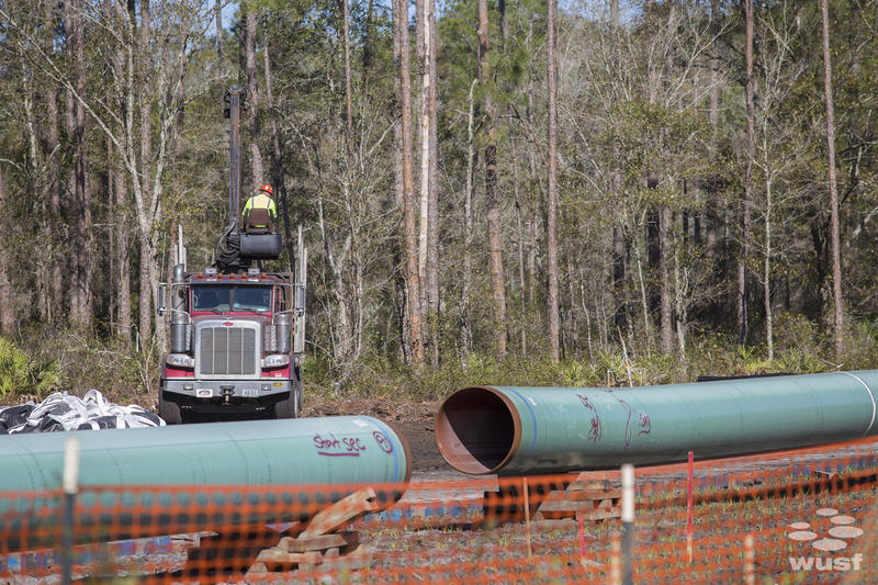 The pipeline is being installed just outside Robin Koon's home