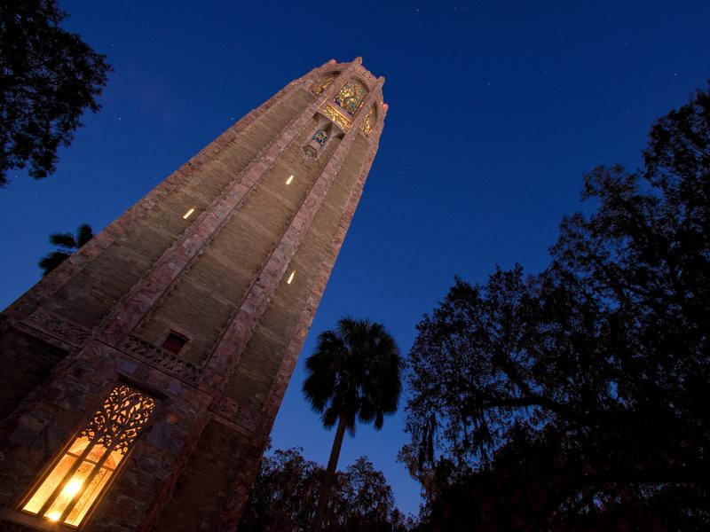 Bok Tower in Lake Wales at night
