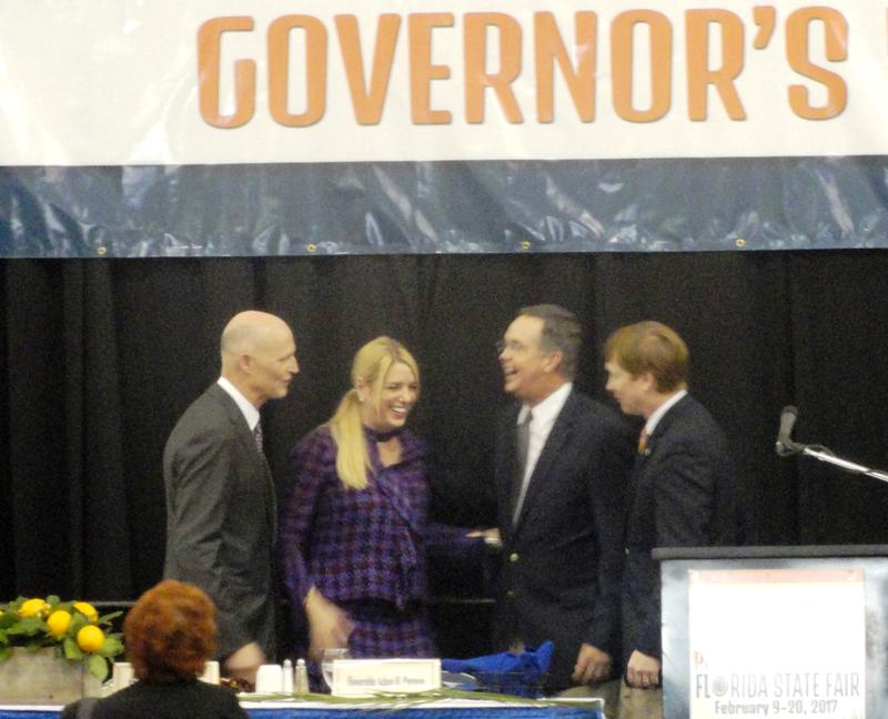 Gov. Scott pals around with Attorney General Pam Bondi, Chief Financial Officer Jeff Atwater and Agriculture Commissioner Adam Putnam