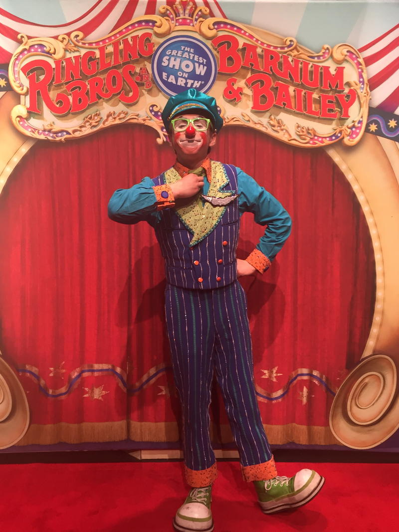 Matthew Lish is just a few months into his career with Ringling. He says he feels it's a special honor to be one of the last clowns to ever perform with Ringling Bros. and Barnum & Bailey Circus.