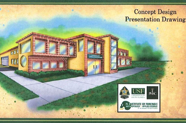 Concept drawing of the Florida Forensic Institute for Research, Security & Tactical Training