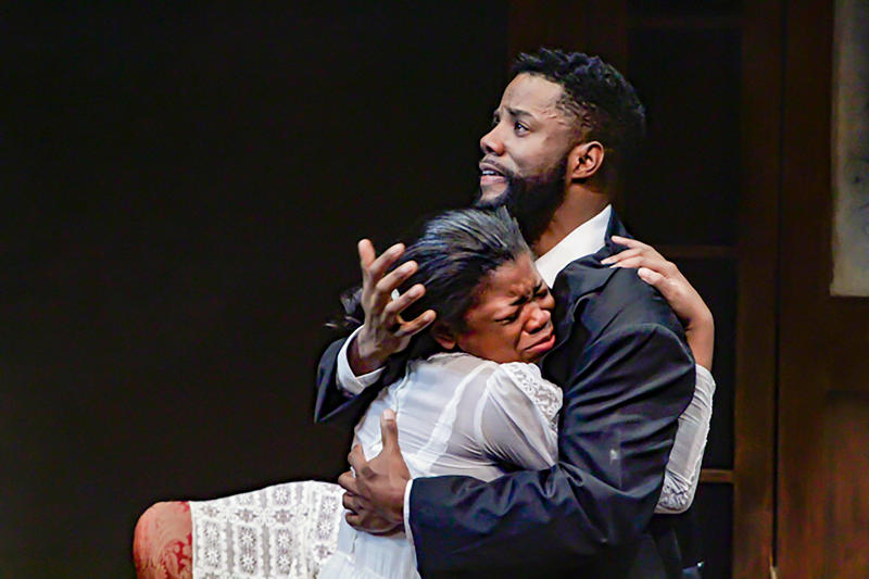 "Shelby Ronea and Calvin M. Thompson in ""Joe Turner's Come and Gone."""