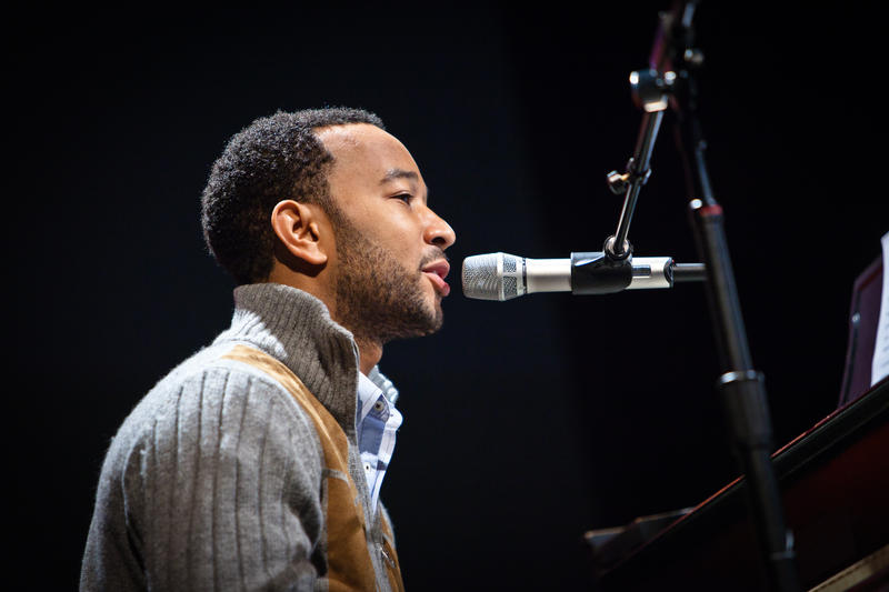 John Legend during a 2010 performance in Camden ,Maine.
