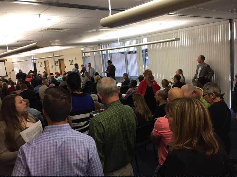 The Florida Department of Health and the Office of Compassionate Use held a public meeting on Amendment 2 implementation at the Tampa Branch Laboratory. Hearings across the state have been contentious, with standing room only crowds, cheering and booing.