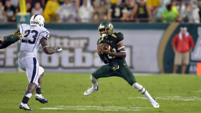 USF football player Hassan Childs is in stable condition after being shot in an apparent road rage incident in Tampa Saturday night.