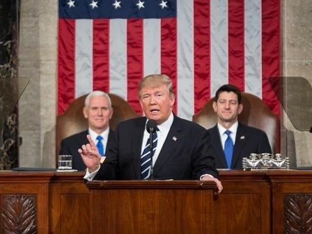 President Donald Trump gave his first address to a joint-session of Congress on February 28, 2017.
