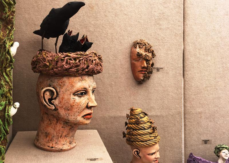 Ceramic heads to make you think.