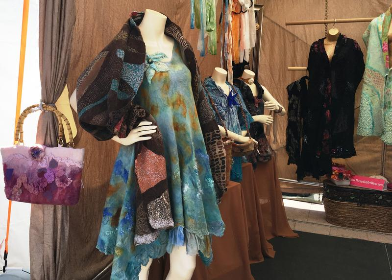 The art of fabric and fashion was available at several booths.