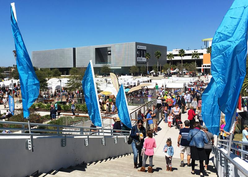 With more than 250 artists on display, the festival was set up on two levels at Curtis Hixon Park.