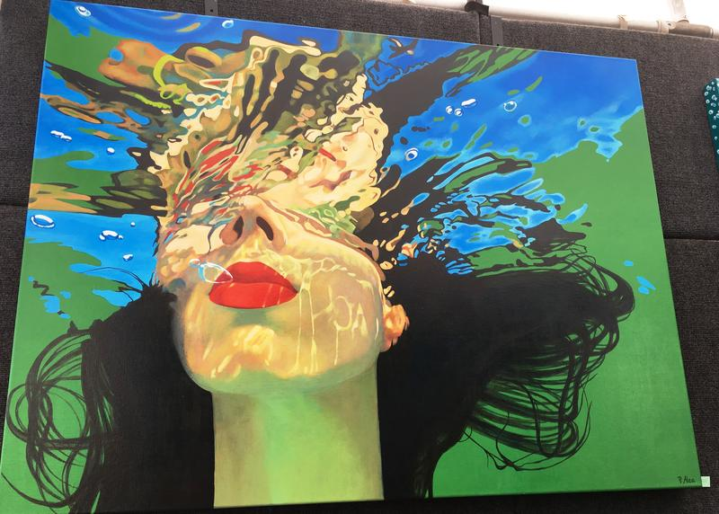 Painting on display during the annual Gasparilla Festival of the Arts.