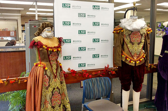 Period costumes from the USF School of Theatre and Dance