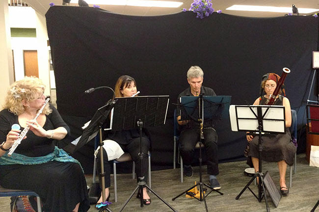The USF Health Chamber Players perform.