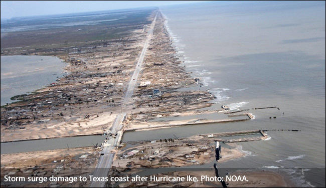 Storm Surge damage after Hurricane Ike
