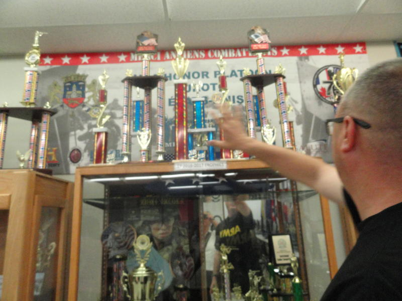 The Newsome High JROTC trophy cases are packed with honors won by the cadets.