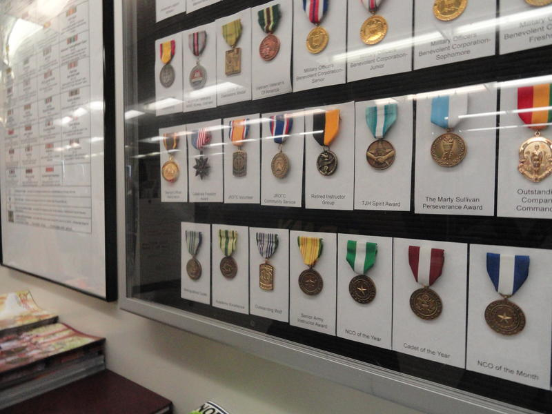 JROTC cadets at Newsome can earn a variety of medals that mark their skill proficiency or service.