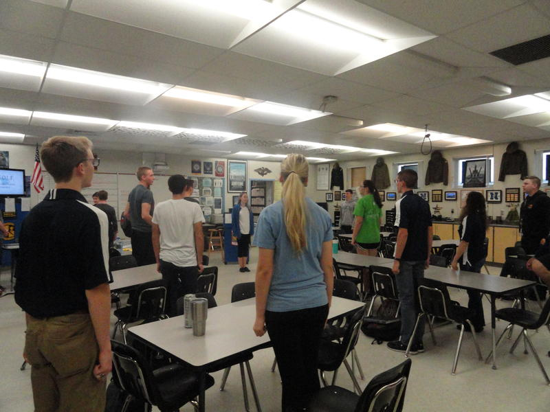 Classes at the Newsome JROTC start with cadets reciting their motto, creed and then singing the Army song.