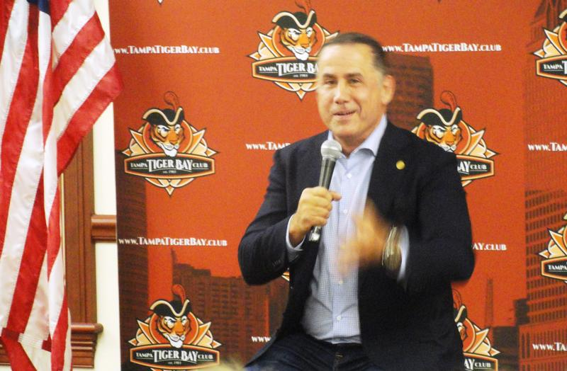 Philip Levine speaks at the Tampa Tiger Bay Club