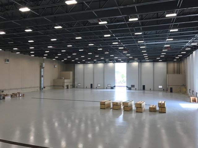 The 58,000 square foot hangar is slightly larger than MacDill's. It can comfortably fit all nine of NOAA's aircraft at once with room to spare.