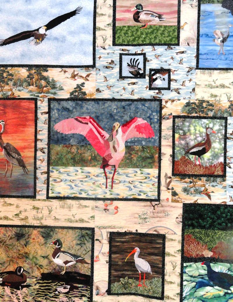 Detail of quilt inside the Audubon Nature Center