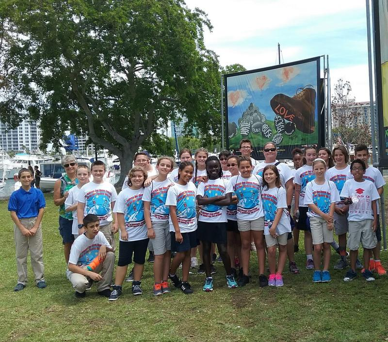 Marina Lamela, and her 5th grade class from Atwater Elementary school in North Port.