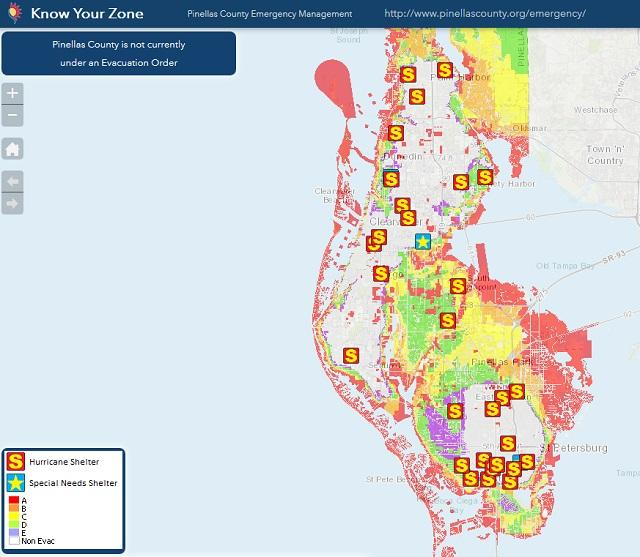 Pinellas Unveils New Hurricane Evacuation Map And App | WUSF News