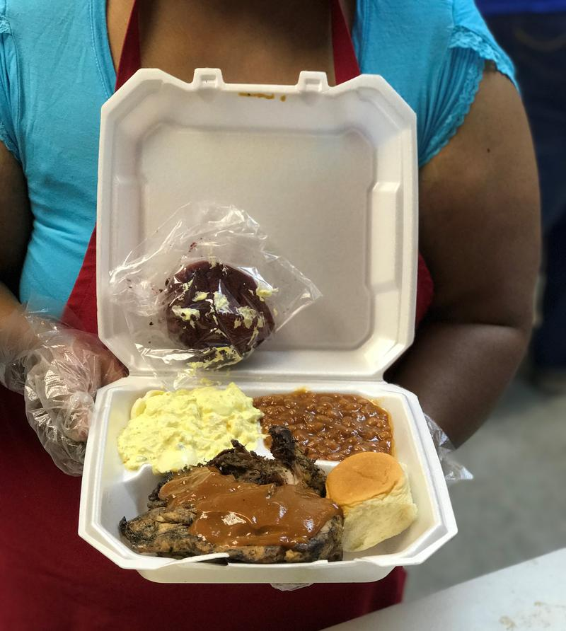 Full meals were prepared for the Finger Lickin' Fundraiser in March at 20th St. Church of Christ.