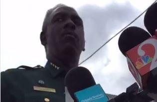 Orange County Sheriff Jerry Demings speaks to the media after a shooting at a business.