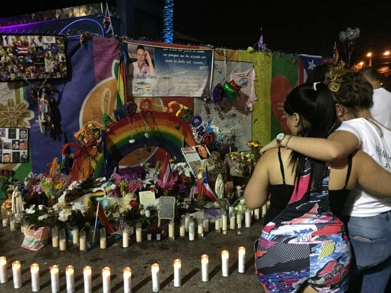 Pulse memorial in Orlando.