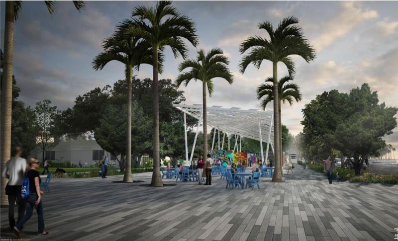 An artist's rendering of the new pier approach in downtown St. Petersburg