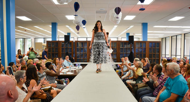 Manatee County Public Libraries' 2017 Recycled Teen Fashion Show.