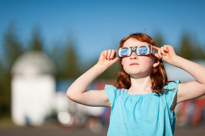 School systems recommend talking to children about safety during the solar eclipse and how to prevent them from looking directly at the sun, which can cause damage to eye tissue.
