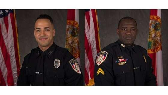 Officer Matthew Baxter (L) and Officer Sam Howard (R) were shot Friday night in the line of duty.