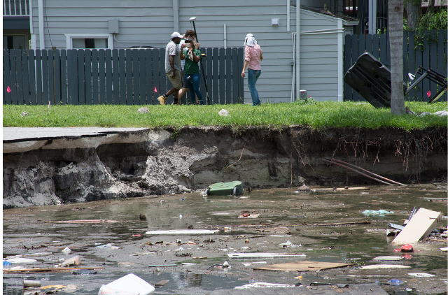 USF researchers capture images of the destruction.