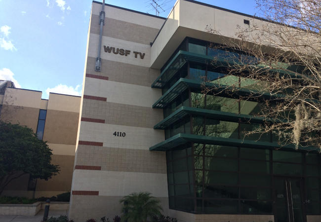 WUSF TV broadcasts from the University of South Florida campus in Tampa.