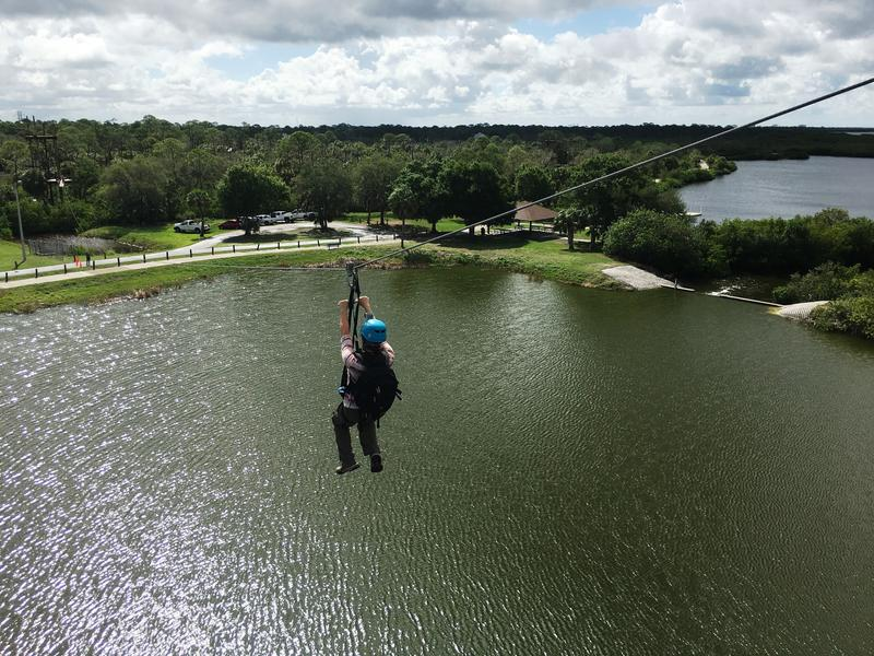 I soared over Tampa Bay at whipping speeds during my staycation at Empower Adventures Tampa Bay.