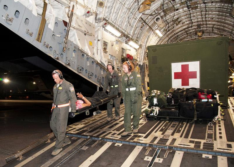 Some of the St. Croix patients were flown to Dobbins Air Reserve Base in Georgia.
