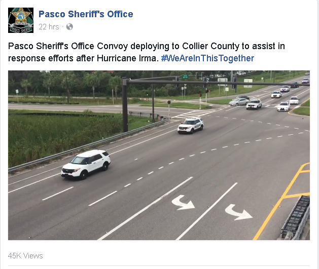 Pasco Sheriff team deploying to Southwest Florida