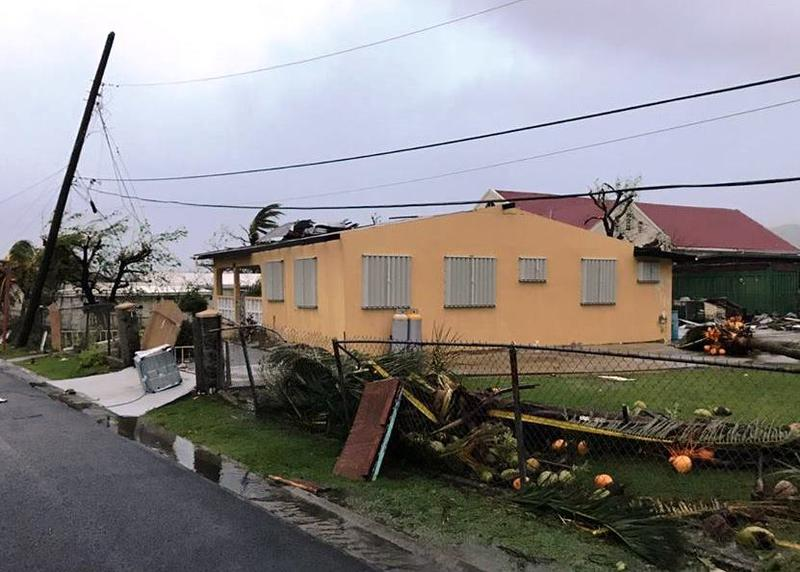 Some of the wind damage on St. Croix.
