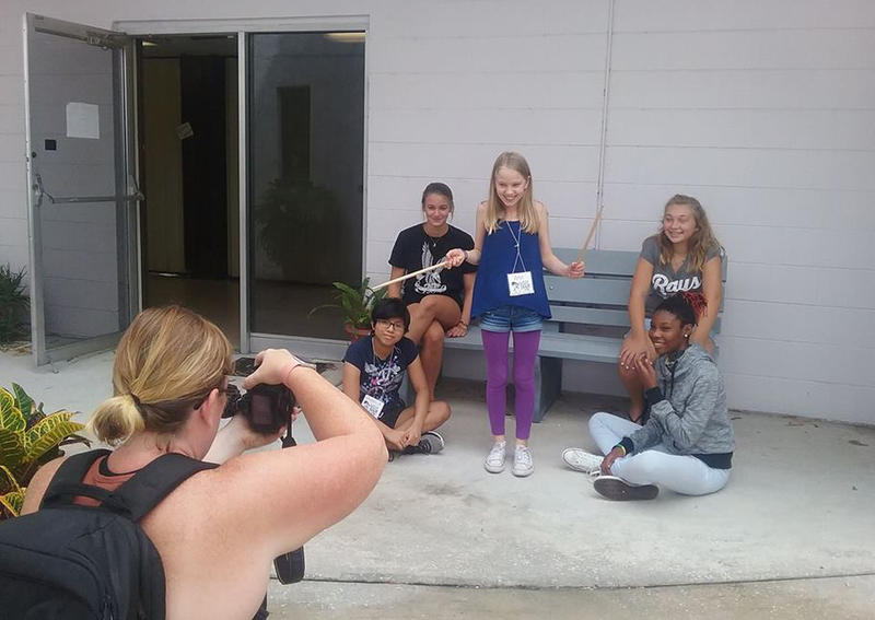 Each band at Girls Rock Camp had a professional photoshoot.