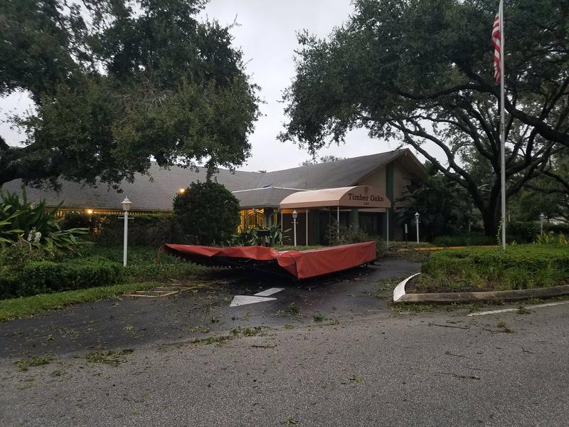 Damage at Timber Oaks clubhouse in Pasco County.