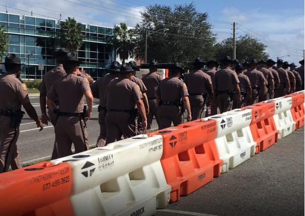 Law enforcement prepare for protests ahead of Richard Spencer's appearance at the University of Florida Thursday.
