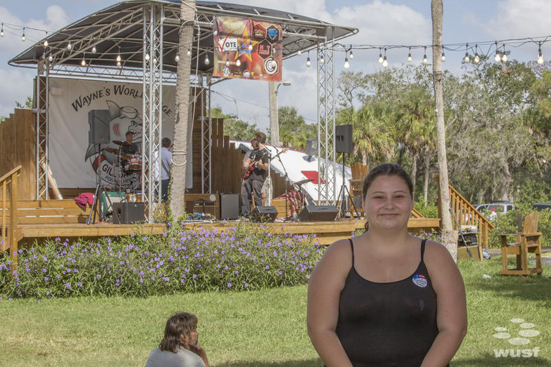 Nicole Dominguiez, 19, is a culinary arts college student who registered to vote for the first time ar VoteFest.