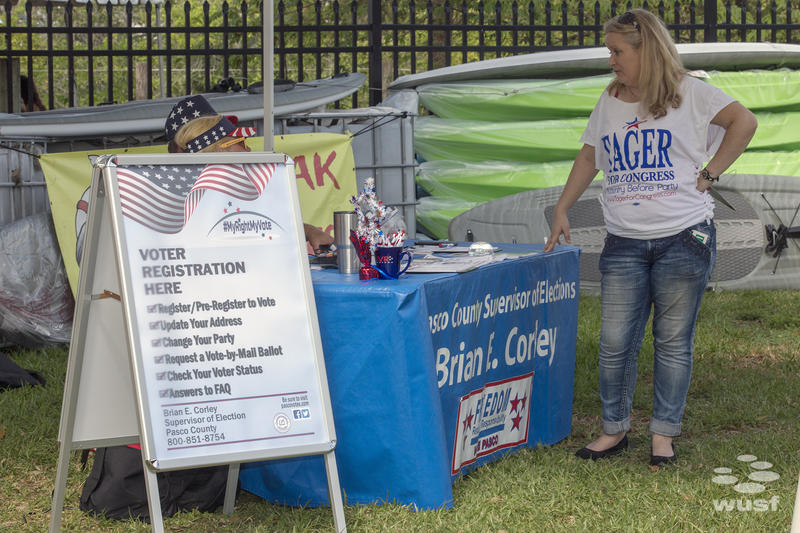 Representatives from the Pasco county Supervisor of Election's Office were onsite to register people to vote.