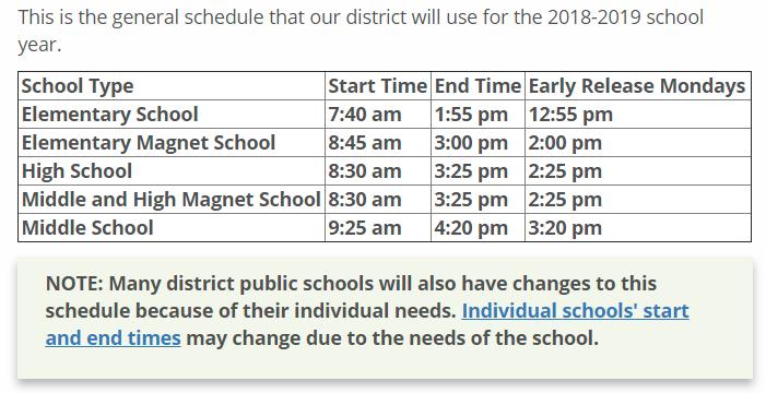 high school class schedule sample