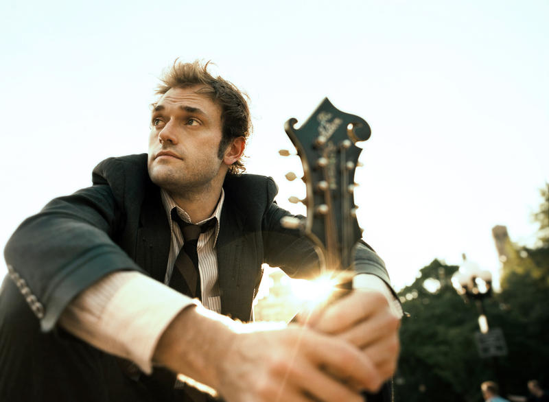 Chris Thile, the host of A Prairie Home Companion performs at the Straz Center in Tampa Wednesday.