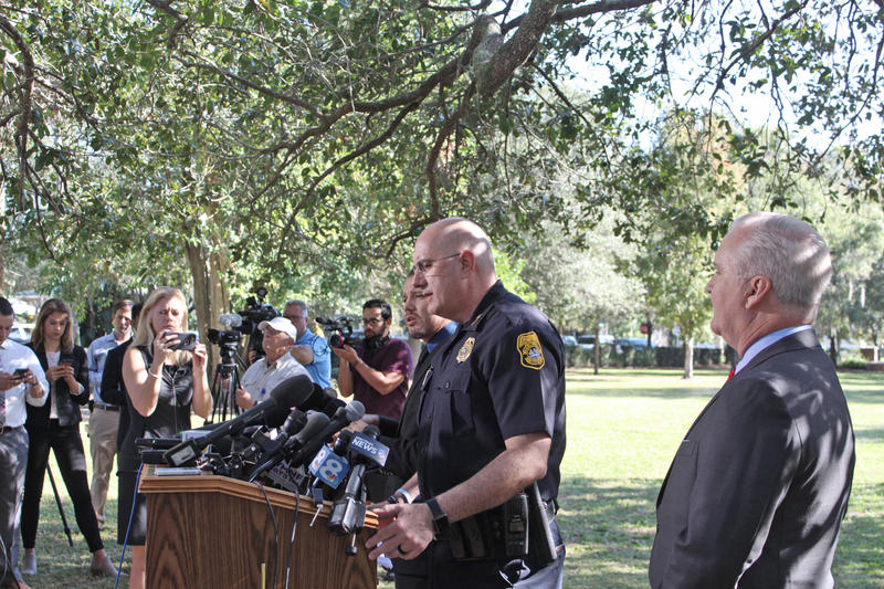 Chief Dugan at news conference.