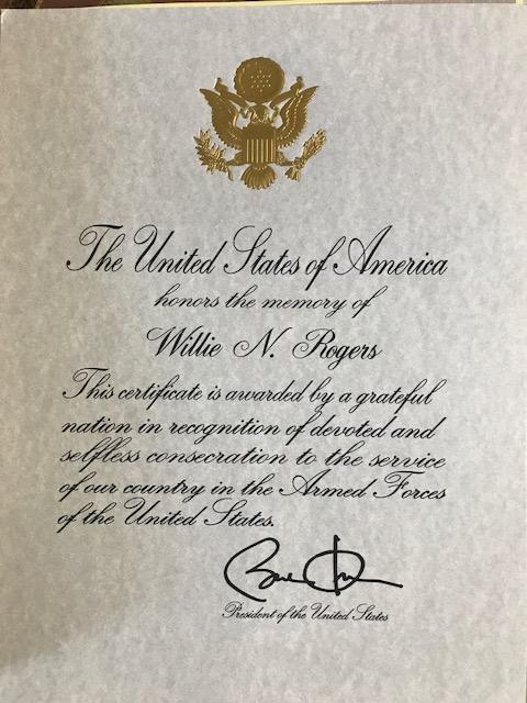 Presidential Commendation From Barack Obama