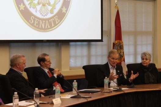 U.S. Senator Bill Nelson of Florida (center right) told Tampa Bay business leaders he would vote against the tax reform bill.